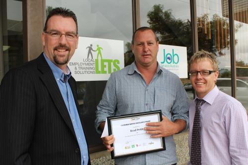 Customer Service Award - Brad Pettitt - Broken Hill/Menindee
